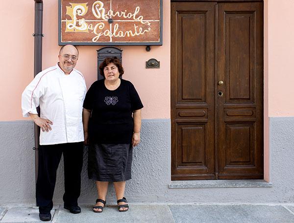I titolari del Ristorante La Raviola Galante, Scurzolengo, Monferrato, Piemonte