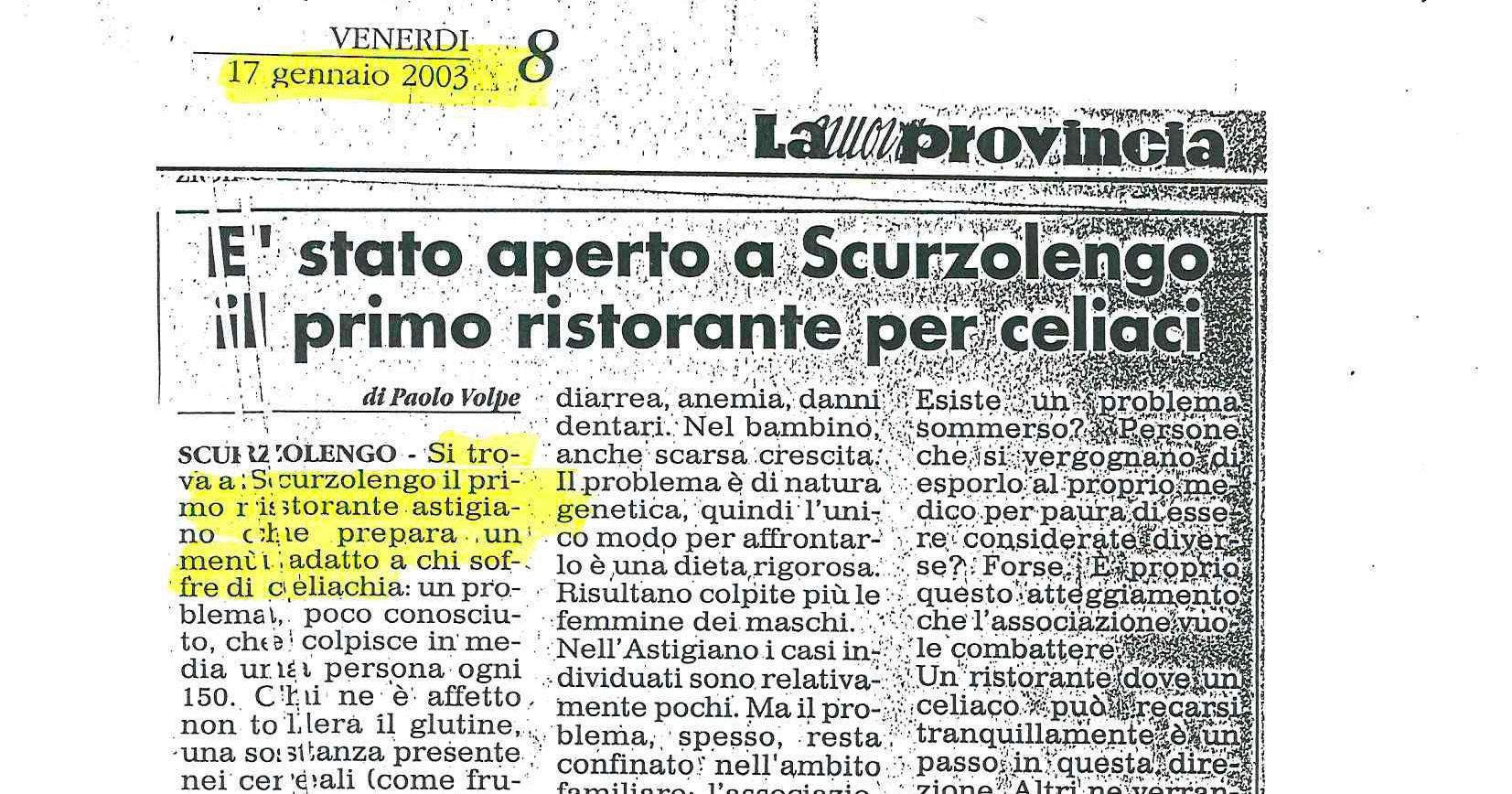 Si parla di noi, Ristorante La Raviola Galante, Scurzolengo, Monferrato, Piemonte